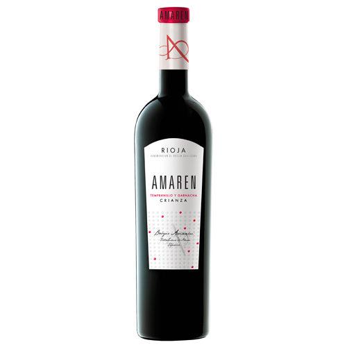 botella de vino tinto Amaren Crianza 2013