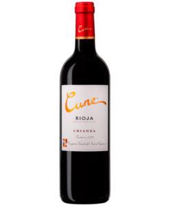 botella de vino cune crianza 2014