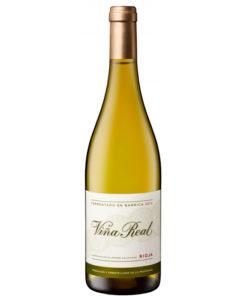 botella de vino Cune Viña Real blanco fermentado barrica