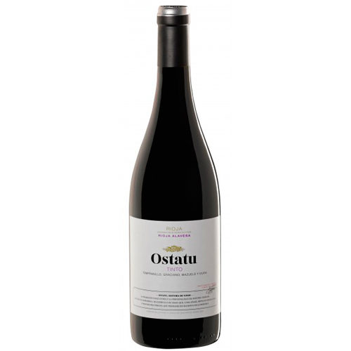 botella de vino tinto joven Ostatu Tinto 2017