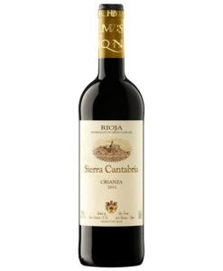 botella de vino tinto Sierra Cantabria Crianza 2014