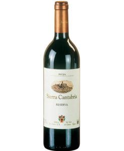 botella de vino tinto Sierra Cantabria Reserva 2010