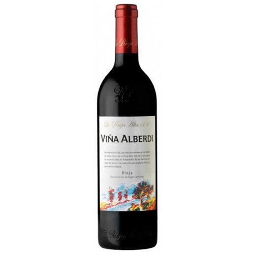 botella de vino tinto Viña Alberdi Crianza 2011