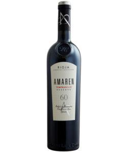 botella de vino tinto Amaren Tempranillo Reserva 2008