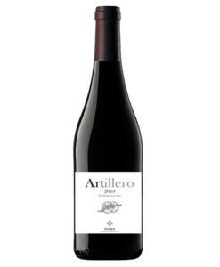 botella de vino tinto artillero 2014