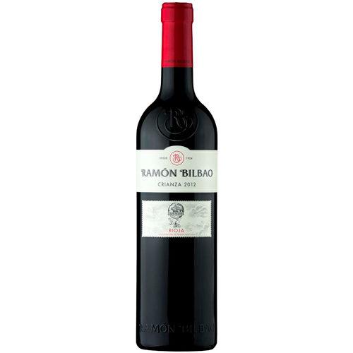 botella de vino tinto Ramón Bilbao Crianza 2014