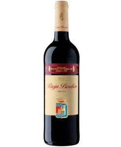 botella de vino tinto Rioja Bordon Crianza 2014