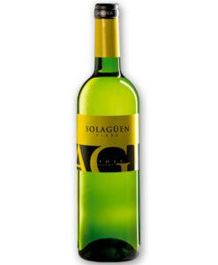 botella de vino blanco Solagüen Blanco 2015