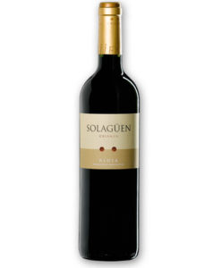 botella de vino tinto Solagüen Crianza 2013