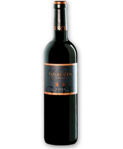 Botella de vino tinto Solagüen Gran Reserva 2005