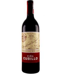 botella de vino Viña Cubillo Crianza 2009