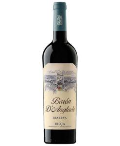 botella de vino tinto Barón D´Anglade 2011