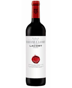botella de vino tinto Lacort Crianza 2014