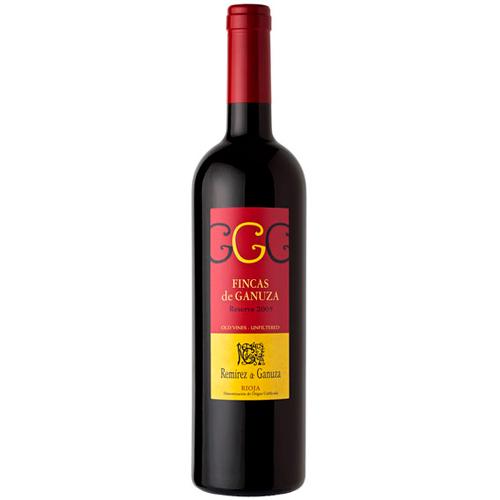 botella de vino Fincas de Ganuza Reserva